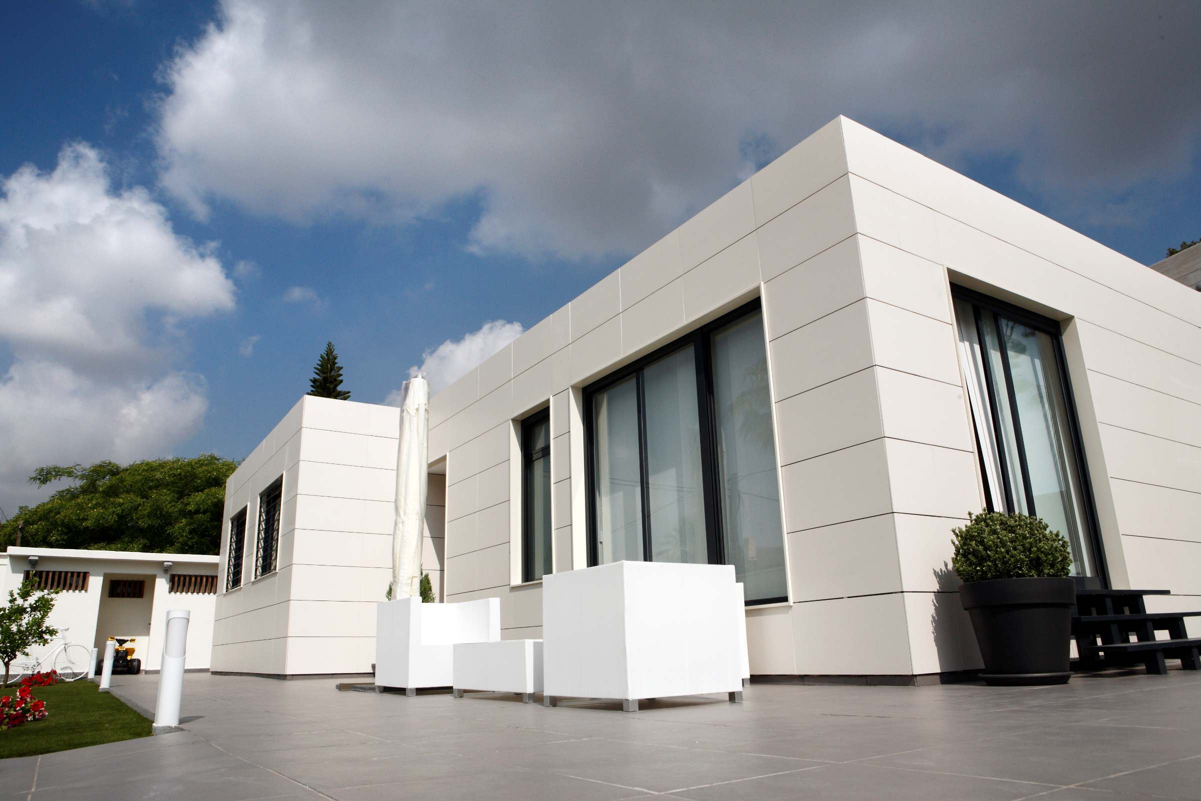 detalle exterior de casas vitale loft