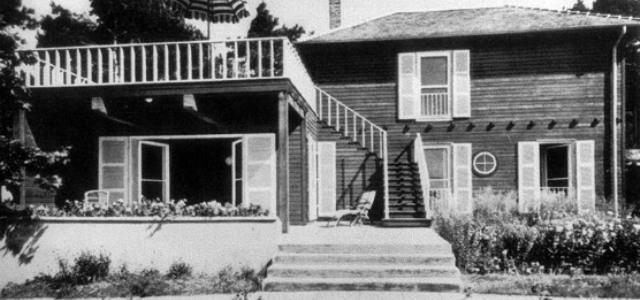 La Casa de Verano de Einstein en la década de los años 30.
