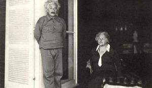 Albert y Elsa Einstein en Caputh. 1929.
