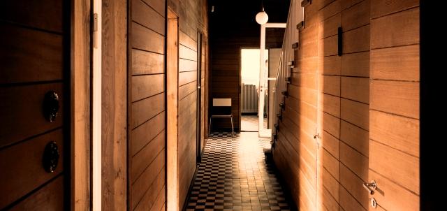 Interior de la Casa de Verano de Einstein.