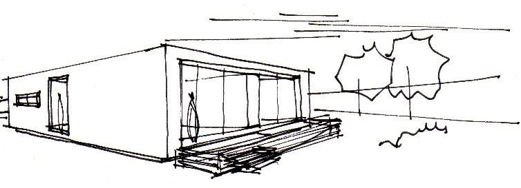 Boceto casa INNOVA de casas modulares Vitale Loft
