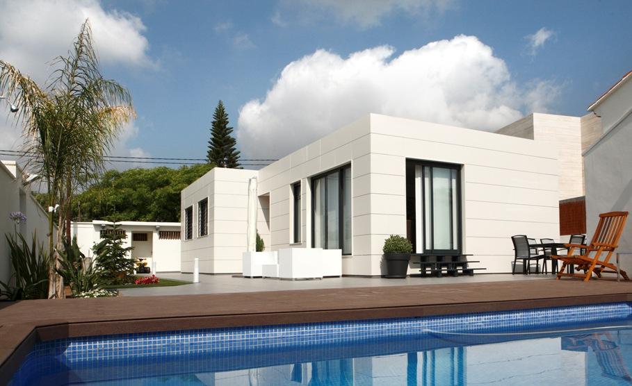 Casas prefabricadas modulares de hormig n modelo optima - Precio m2 construccion chalet ...