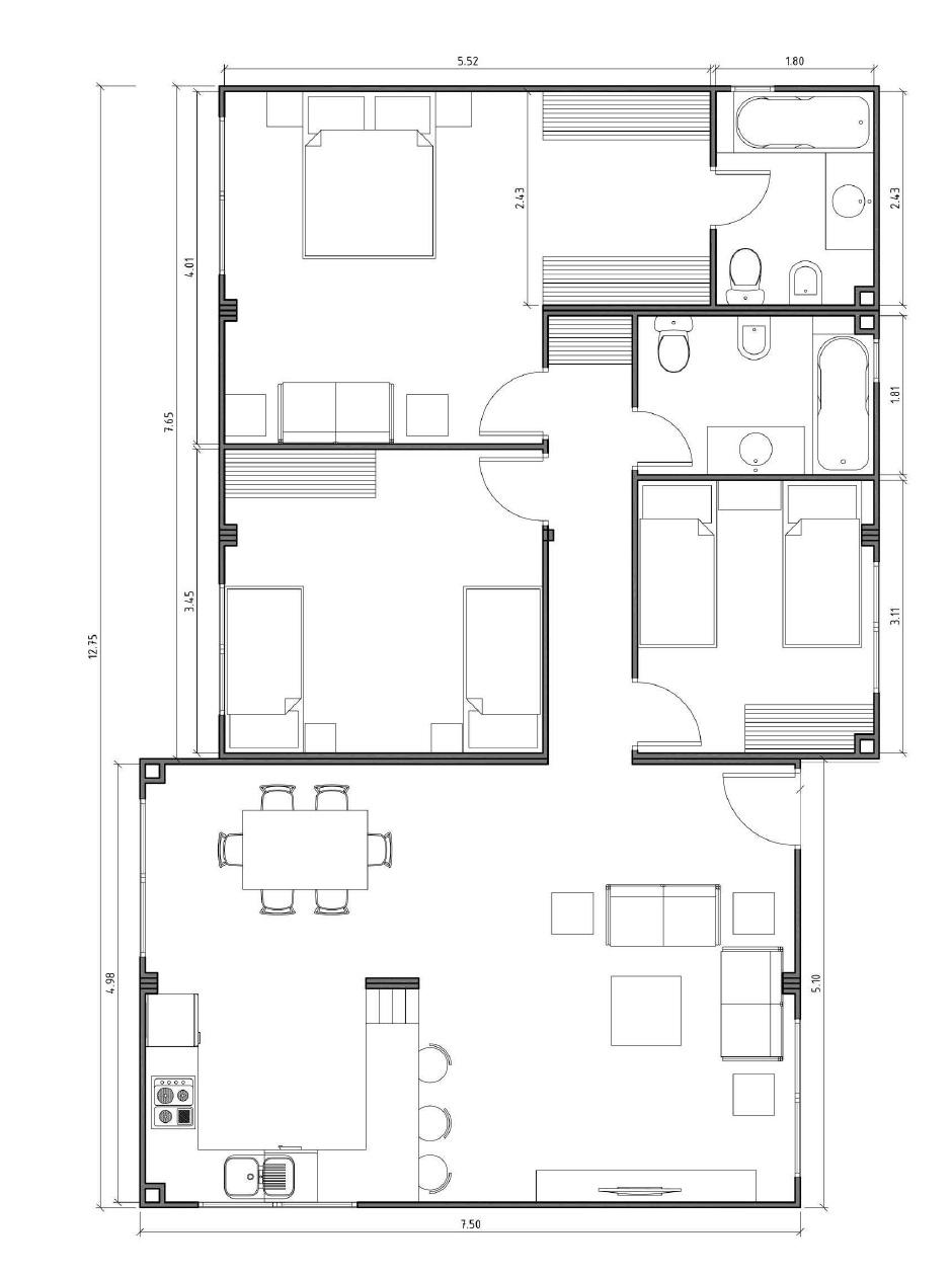 Modelo de casa innova de 150 m2 vitale loft for Modelos de viviendas de una planta