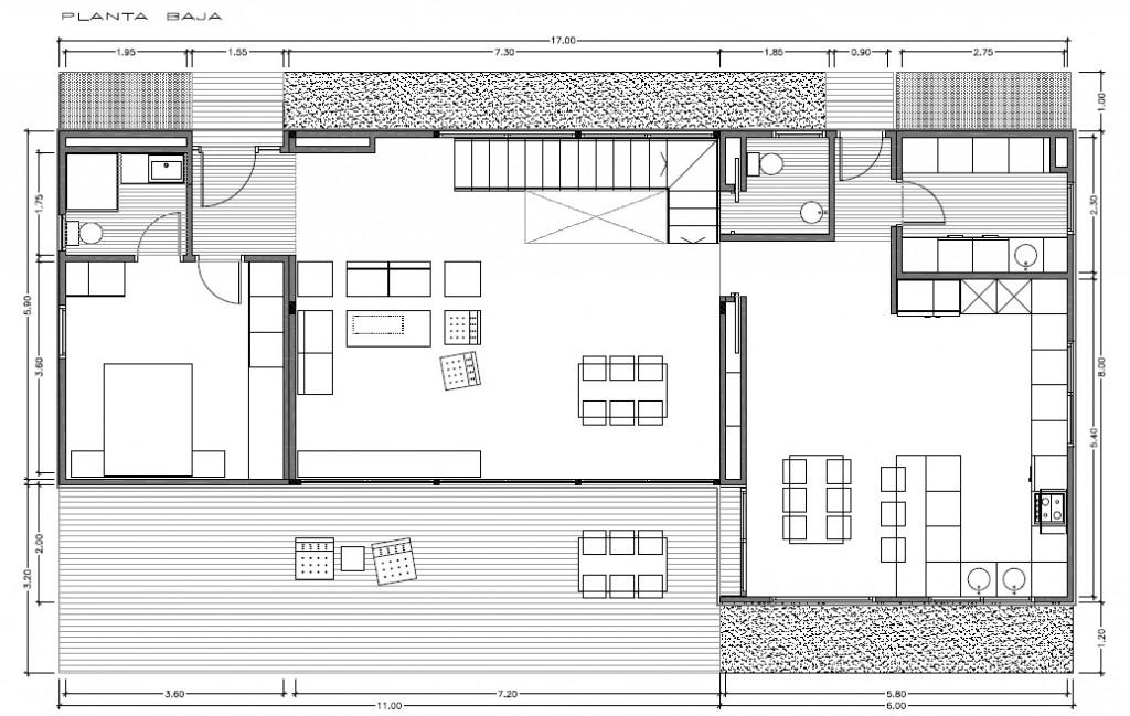 Plano planta baja INNOVA 250 m2