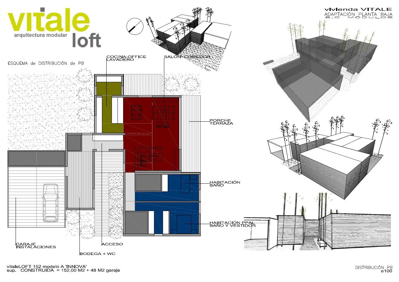Propuesta de diseño casa Vitale Loft 200 m2