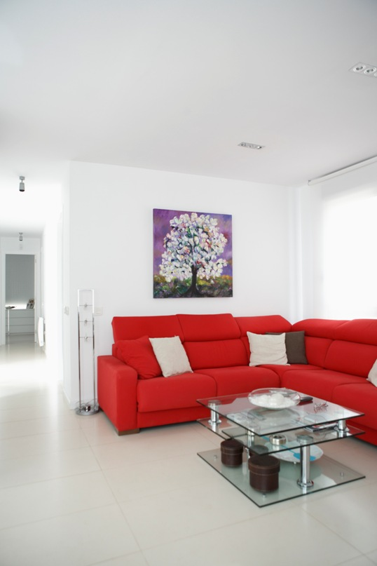 Salón de casa modular Vitale Loft