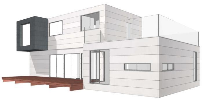 Modelo de casa innova de 250 m2 distribuci n a vitale loft for Casas alargadas distribucion