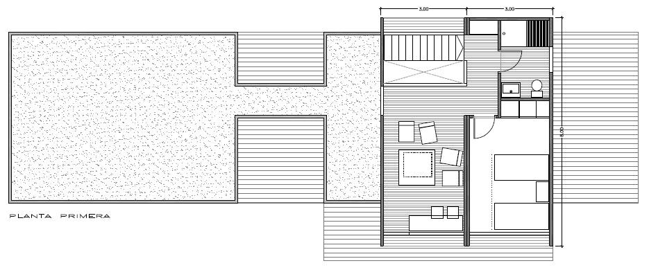 Modelo 150 m2 Vitale Loft 3 habitaciones con 3 baños planta primera