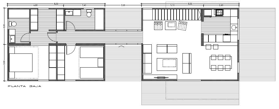 Casa Modular De Dise O De 150 M2 Con 3 Habitaciones