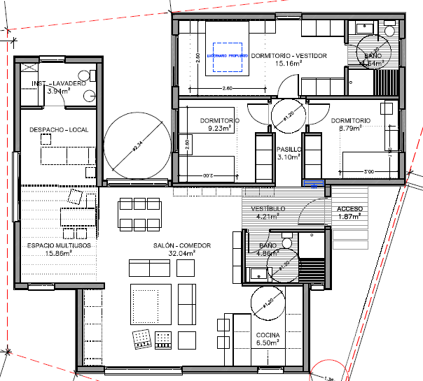 modelo de casa de m construidos